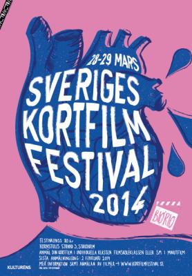 Affisch för Sveriges Kortfilmfestival - 2014